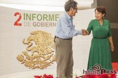 Rinde rosa nidia su segundo informe de gobierno en Salina Cruz.