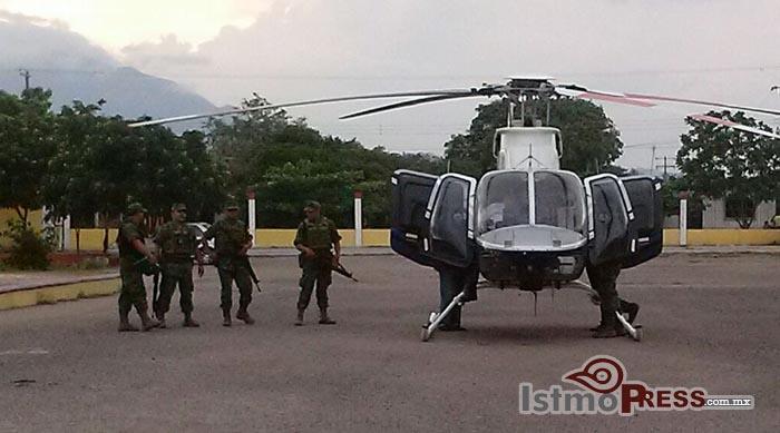 helicoptero en ixtepec