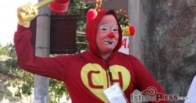 Celebran el festivalde payasos del istmo en El Espinal