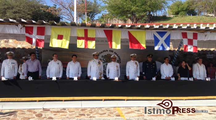 Realizan cambio de mandos en la 12 Zona naval de Salina Cruz