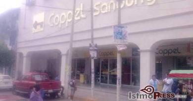 Asaltan tienda Coppel de Tehuantepec