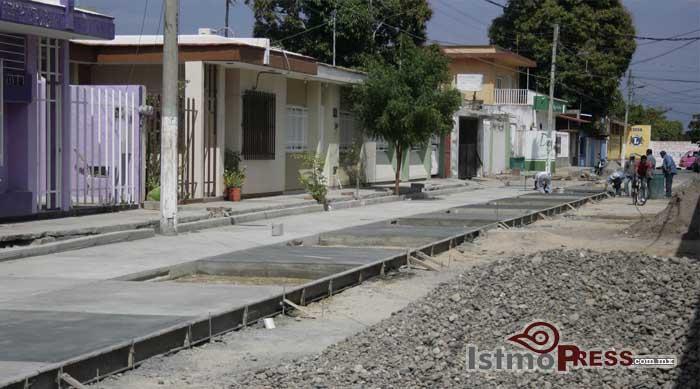 Avanza segunda etapa de la obra en la calle GaleanaEduardo Pedro Reyes