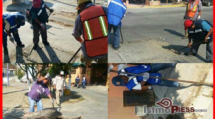 El Gobierno Municipal da mantenimiento a la red de drenaje de Salina Cruz1