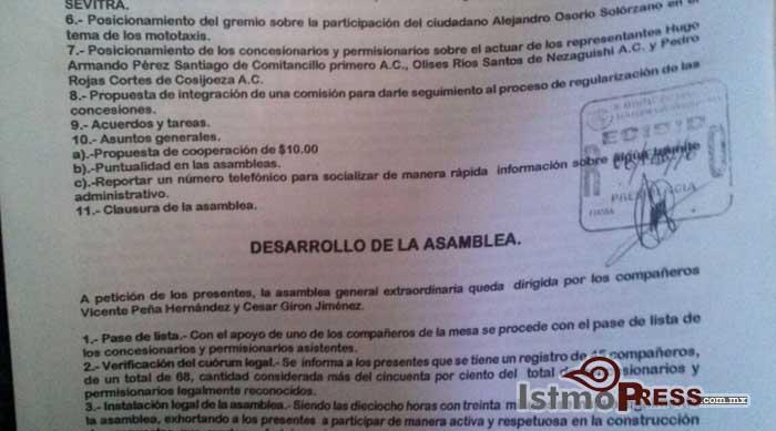 Mototaxistas de Comitancillo dan ultimatum a SEVITRA