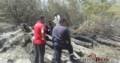 Se registra fuerte incendio en las Salinas del Marques, en Salina Cruz