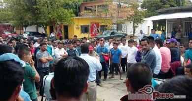 Pobladores de Guevea se manifiestan ante SEGEGO