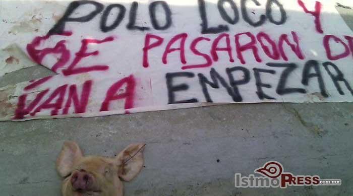 Cuelgan manta en túnel de Salina Cruz con leyenda dirigida a líder cetemistas