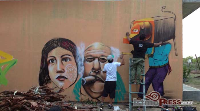 El graffiti para reducir alcoholismo y drogadicción  Gotha Chiquitraca