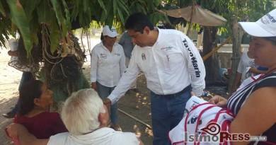 Recorre Tavo Marín comunidades del Distrito XI