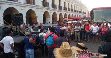 uspende caravana ayuntamiento de Juchitán