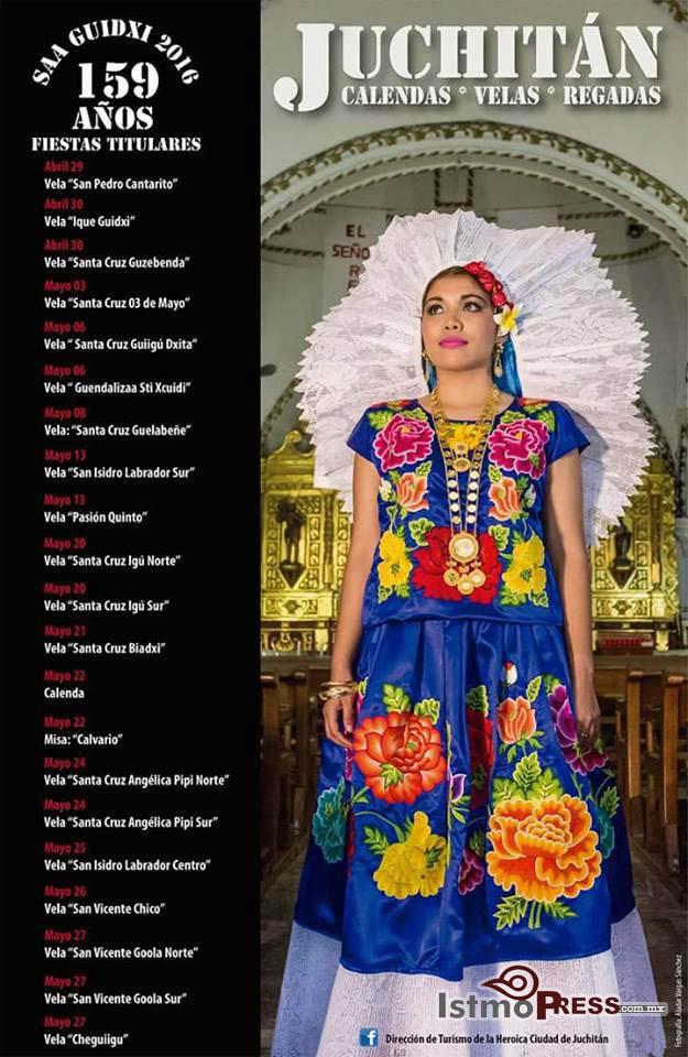 velas 2016 juchitan cartel Todo listo para las Velas en Juchitán