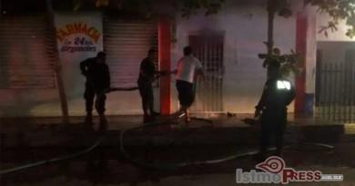 Calcinado muere hombre al interior de una farmacia en Tehuantepec