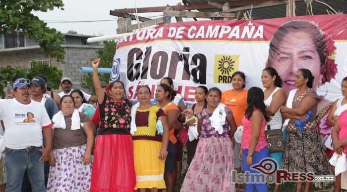 Gloria Sánchez va con todo a la presidencia de Juchitán
