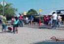 Con bloqueo, pobladores reclaman agua potable en Jalapa del Marqués