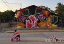 Entre lienzos: Un mural creado al alimón/ Víctor Fuentes