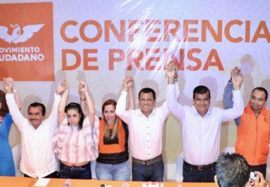 Presenta Movimiento Ciudadano a Samuel Gurrión Matías como su candidato a la Presidencia de Oaxaca de Juárez