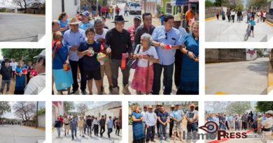 Inaugura Rodolfo León Aragón obras de drenaje y pavimentación en la hidalgo poniente