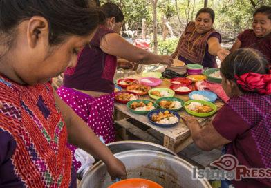 Inauguran cocina comunitaria hecha de Bambú para damnificados de San Mateo del Mar
