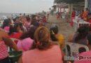 Mujeres de la Cocei Nueva Generación continúan caminando en el municipio de Juchitán