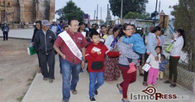 Lleva Pavel Meléndez esperanza de un mejor Oaxaca al pueblo Chontal de Ecatepec