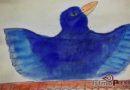 Pájaro azulado / Víctor Fuentes