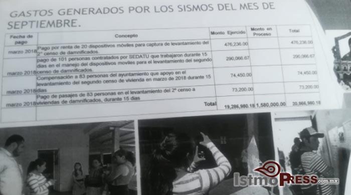 Sin certeza los gastos de 56 millones que ayuntamiento aplicó en Juchitán, no hay facturas