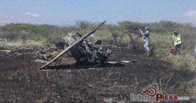 Cae helicóptero de la Base Aérea Militar en Ixtepec