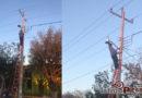 Ayuntamiento de Juchitán realiza tareas de mantenimiento y reposición de luminarias en La venta
