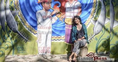 Ana Xhopa pinta murales para defender la diversidad cultural y elterritorio zapoteca