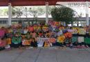"""Estudiantes de Juchitán se unen a la """"Manta de curación, pieza por pieza y de país en país"""" contra la violencia"""