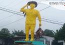 """Colocan escultura amarilla en Tuxtepec dedicada a productores de """"plátano macho"""" y causa revuelo en redes sociales"""