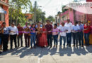 Entrega cabildo juchiteco obra de pavimentación, con inversión de 572 mil pesos