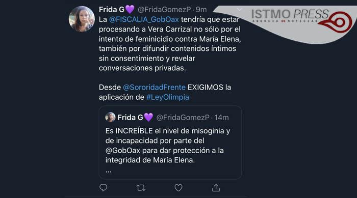 """14 Feb Judicializan en Oaxaca el primer caso por """"Ley Olimpia"""""""