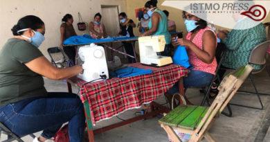17 Abr fabrican cubre boca en Unión Hidalgo