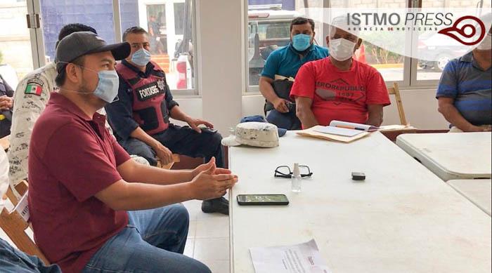 27 Abr Juchitán reunión con taxistas