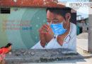 Artista zapoteco dedica mural a personal medico en pandemia
