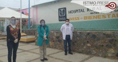 Rosalinda Domínguez gestiona equipo  para el hospital de Matías Romero