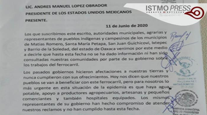 11 Jun Pueblos de Oaxaca exigen frenar obra de remodelación del ferrocarril1