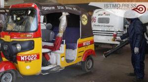 18 Jul Sanitiza FUCO mototaxis en Juchitán2