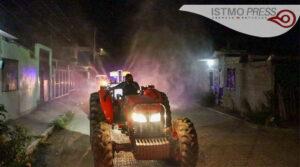 23 Jul Juchitán sigue desinfectando calles3