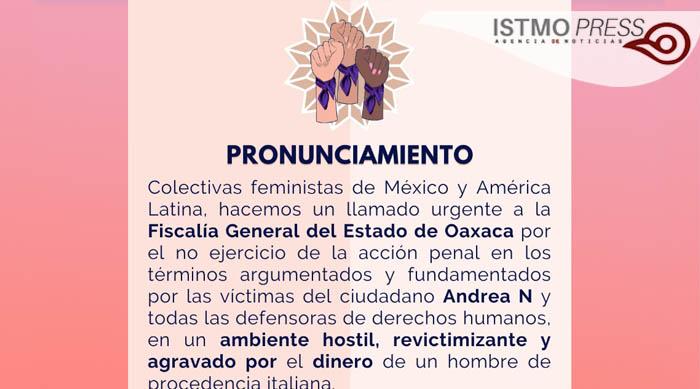 28 Jul Fiscalía de Oaxaca protege a ciudadano italiano y no a mujer indigena