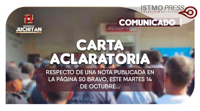 Carta Aclaratoria