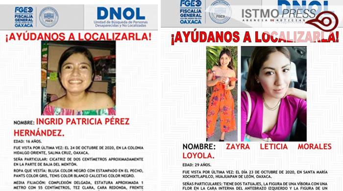 Desaparecidas Ingrid Patricia y Zayra Leticia