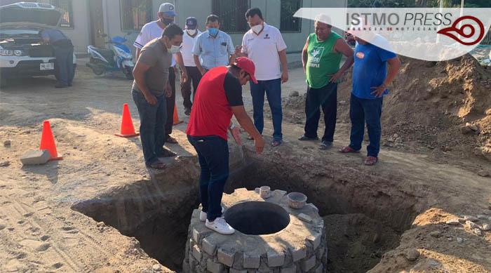 Supervisa obra de drenaje en Chicapa