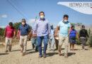 Supervisa Emilio Montero revestimiento de calles en Ejido Emiliano Zapata