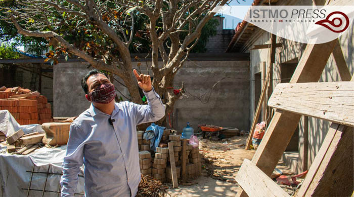 reconstrucción de biblioteca Juchitán