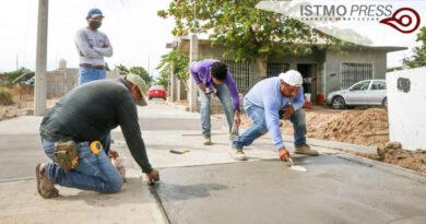 Obra de pavimentación Juchitán