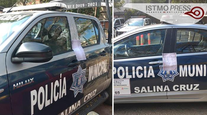 Paro de labores policía muncipal Salina Cruz