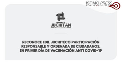 Reconoce edil juchiteco participación responsable y ordenada de ciudadanos, en primer día de vacunación anti Covid-19