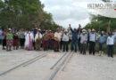 Pueblos y ejidatarios paran trabajos de rehabilitación del tren transismico en Oaxaca